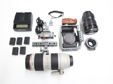 Rent: Sony A7S II 4K Camera w/ Tilta cage/ EF adapter 24-70/70-200