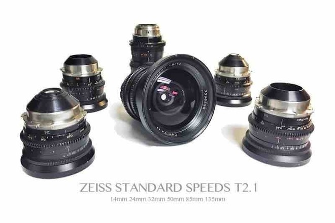 6 lens Zeiss Standard Speed T2.1 set (Coated)