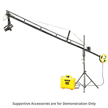 Proaim 14ft Jib Arm Camera Crane Tripod Stand & Jr Pan Tilt