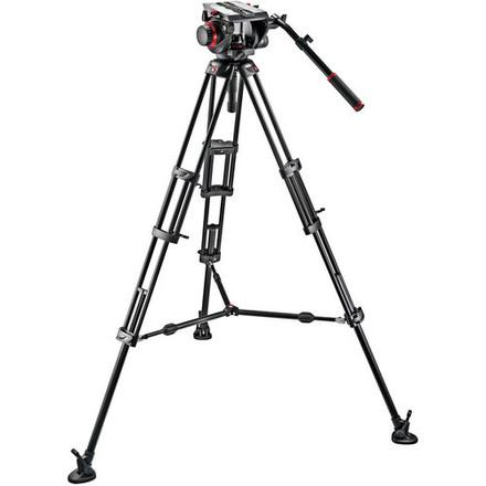 Manfrotto 509HD Video Head with 545B Tripod Legs, Mid-spread