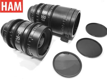 Rent: (Canon EF) Sigma 18-35mm Cine T2, Sigma 50-100mm, Tiffen ND