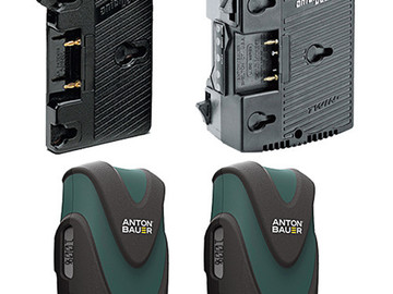 Rent: Anton Bauer 2-Battery Kit w/Charger