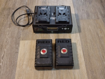 Rent: 2x Red Batteries with Charger