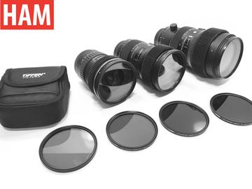 Rent: Canon EF Sigma Art 18-35mm f/1.8, 50-100mm, 11-16mm + ND POL