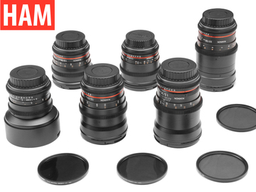 Rent: Canon EF 6-Rokinon Cine-DS 14, 24, 35, 50, 85, 135, ND, Pol