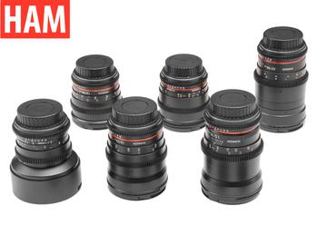 Canon EF 6-Rokinon Cine-DS 14, 24, 35, 50, 85, 135