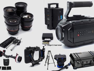 Rent: Blackmagic URSA Mini 4K Complete kit with ROKINON LENSES