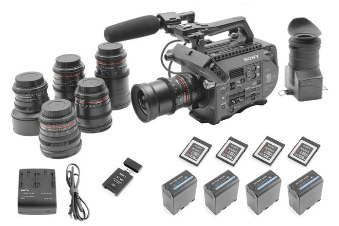 Sony PXW-FS7 (6) Rokinon Lens Set (4) 128GB (4) Batteries