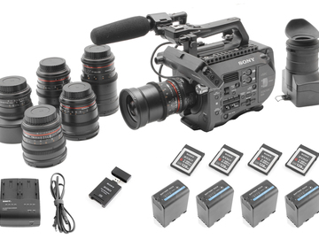 Sony PXW-FS7 (6) Rokinon Lens Set (4) 128GB (4) Batteries
