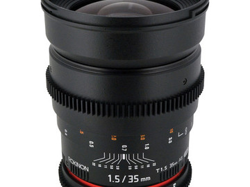 Rent: rokinon 35mm cine lense