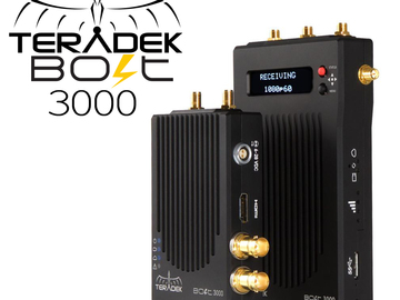 Rent: Teradek Bolt 3000 3G-SDI Video Transmitter and Receiver Set