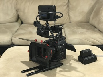 Canon EOS C100 + 50mm 1.8 Prime Lens + Rig & Monitor