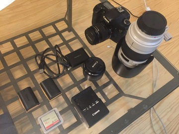 Canon 7D, prime and telephoto zoom lenses for lease/rent