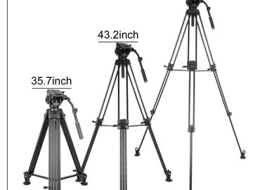 SUPER Tall 7ft Video Tripod with Fluid Head