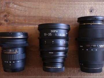 Rent: 11mm - 150mm Zoom Lens Package (Sigma & Tokina) Cinemod