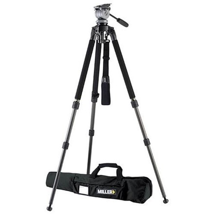 1643 Miller Solo DV Alloy Tripod with DS-20 Fluid