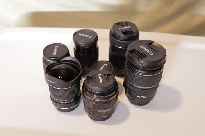 3 x Canon EF Lenses (your choice)