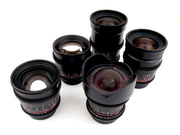 5 Rokinon Cine DS Lens Set  14mm to 85mm, EF-E Adapter Inc