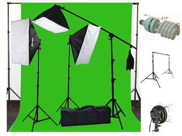 Rent: ePhoto 10 x 20 Muslin Chromakey Green Screen Background Supp