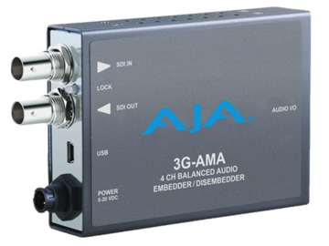 Rent: AJA 3G-AMA SDI 4-Ch Audio Embedder (4 of 4)