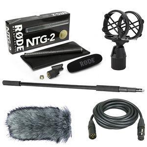 Rode NTG2 Shotgun Microphone + Boom Pool, Stabilizer and XLR
