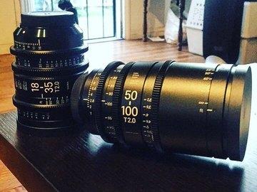 Rent: Sigma Cine 18-35mm + 50-100mm T2