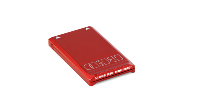 Red Mini Mag 512gb with Card Reader