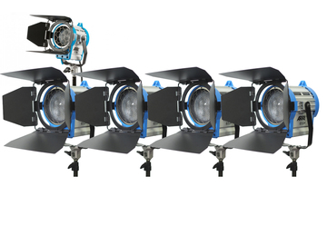 Rent: ARRI 650W and 300w Fresnel 5 light kit