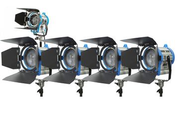 Rent: ARRI 650W and 300w Fresnel 5 light kit