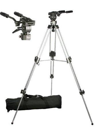 Professional 75mm Video Camera Tripod with Fluid Drag Head