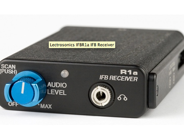 Rent: Lectrosonics IFB R1a (x2) complete with LMA Blk 26 TX