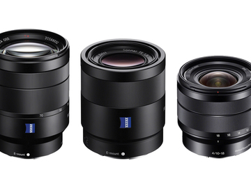 Rent: Sony 10-18, 24-70, 55mm Lens Package