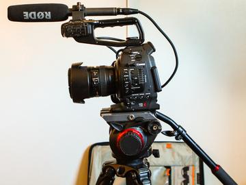 Rent: Canon C100 and Tripod & shotgun mic
