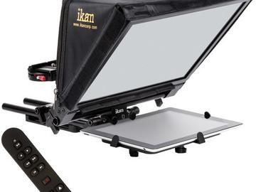 Rent: Ikan Elite V2 Universal Tablet Teleprompter w/ Remote & iPad