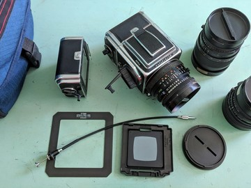 Rent: Hasselblad 503CW + 1 A12 + 1 A24  + 3 Zeiss prime lenses