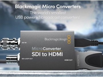Rent: 2 x Blackmagic Design Micro Converter (HDMI-SDI & SDI-HDMI)