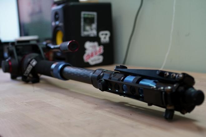 Sirui P-424SR Monopod with Manfrotto 502HD Pro Video Head