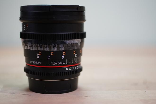 Rokinon 50mm T1.5 High Speed Full Frame Lens