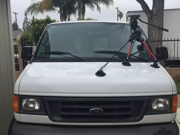 Rent: On car camera mount for car shooting