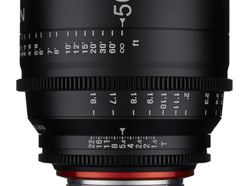 Rent: Xeen 50mm F1.5 Cine Prime Canon EF mount only