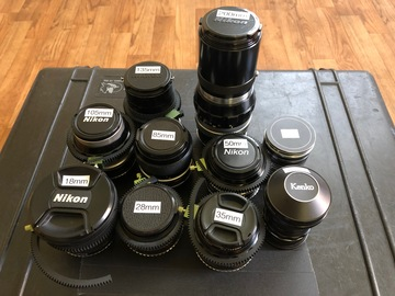 Rent: Nikon Vintage Lens Set C-Series with EF Adapters and Gears