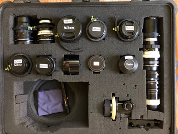 Nikon Vintage Lens Set with EF Adapters, Gears and FF