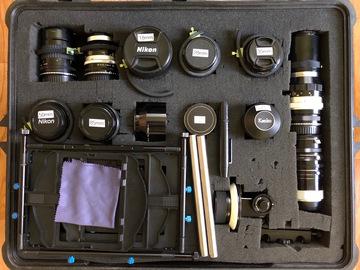 Nikon Vintage Lens Set, EF Adapters, Gears, MB & FF