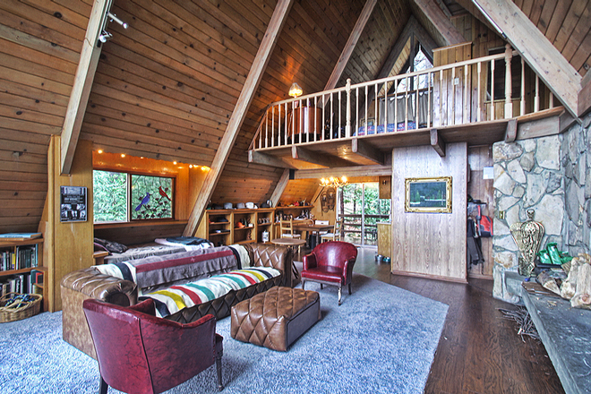 Gorgeous Mid-Century, Rustic, Mountain-Cabin