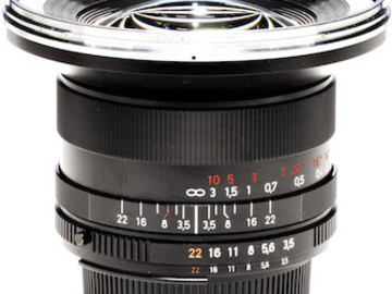 Rent: Canon/Nikon Mount Wide Zeiss ZF.2 Lens - 18mm F3.5
