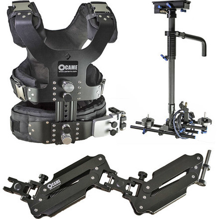 Steadicam with Arm and Vest, 4k monitor. CAME-TV