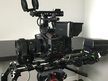 Rent: Panasonic EVA1, w/ Shogun Inferno, V-Mount, Lens, and Rig