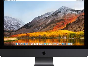 Rent: Apple iMac Pro 27-inch 10-Core 64GB RAM 1TB SSD Vega 64 GPU