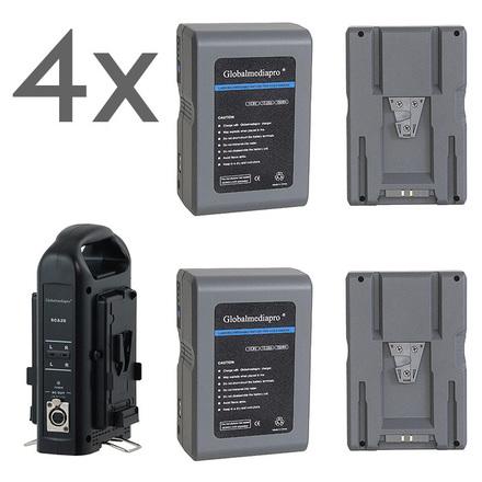 4x V mount Batteries + Charger