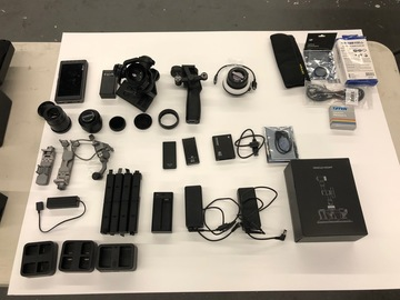 Rent: DJI Osmo RAW X5R, F-Focus, 2 Lenses, Monitor, Car Mount +